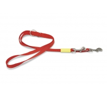 Beeztees Nylon Dressuurlijn Uni rood 200 x 20 cm
