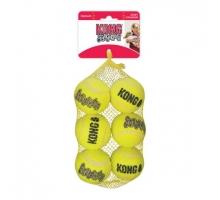Kong Ultra Squeakair Ball Medium Net 6 suks