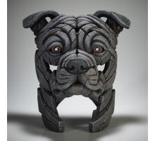 Edge Sculpture Amerikaanse Stafford Buste Blauw
