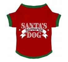 Xmas T-shirt Favourite Dog S
