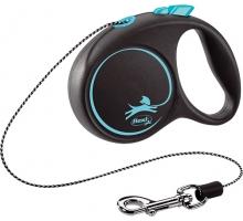 Flexi Rollijn Black Desgin Cord XS blauw 3 m