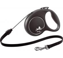 Flexi Rollijn Black Design Cord M zwart 5 m