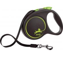 Flexi Rollijn Black Desgin Tape L groen 5 m