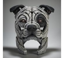Edge Sculpture Amerikaanse Stafford Buste Wit Vlek