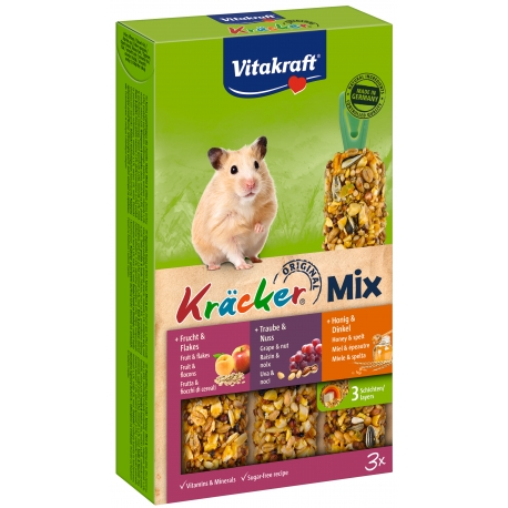 Vitakraft Kracker Mix 3 in 1 Hamster honing/noot/fruit