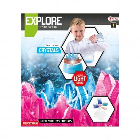 Explore Set -kristallen kweken (diy) incl lamp