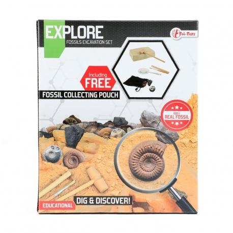 Explore Uitgraafset 'Fossiel' met loep+accesoires