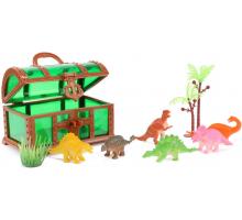 World of Dinosaurs Speelset -8-dlg in schatkist