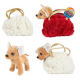 Pluche hond chihuahua in blingbling handtas