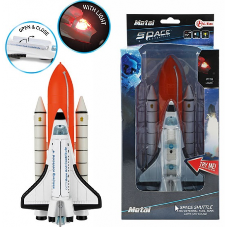 Metal Space shutle met externe brandstoftank klein