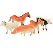Animal World Boerderijdieren deluxe 5 suks in zak