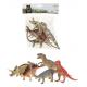 Animal World Dino's dieren deluxe 5 stuks in zak
