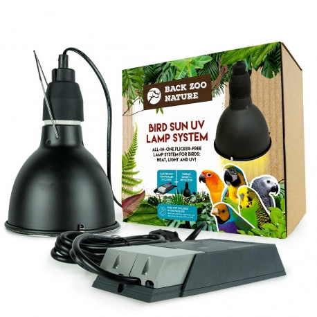 Back Zoo Nature Bird Sun UV-Lamp PRO Set
