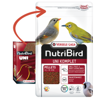NutriBird Uni Komplet Kleine Rassen 250 gram