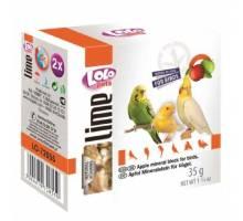 Lolo Pets Mineraalblok Small - Appel 2 stuks voor vogels