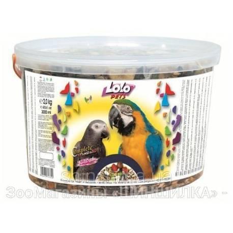 Lolo Pets voer voor Grote Papegaaien 3L Emmer