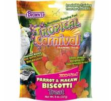 Tropical Carnival  Parrot and Macaw Biscotti Treat 227 gram