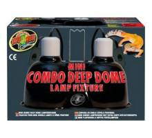 Zoo Med Mini Combo Deep Dome Lamp Fixture (2x 60W max)