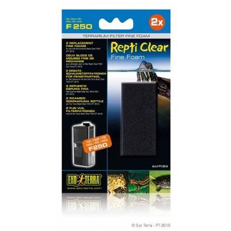 Exo Terra 2 fijn vuil filterpatronen voor Repti Clear F250