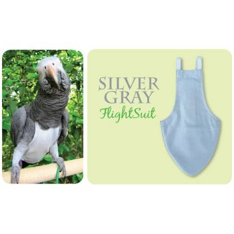 FlightSuit / Papegaaienluier Small Silver Grey