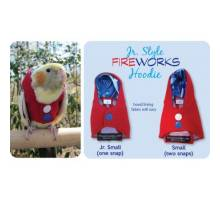 Papegaaien Hoodie Junior Small Red Fireworks