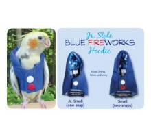 Papegaaien Hoodie Small Blue Fireworks