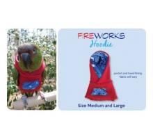 Papegaaien Hoodie Medium Red Fireworks
