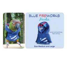 Papegaaien Hoodie Large Blue Fireworks