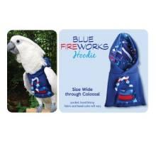 Papegaaien Hoodie Wide Blue Fireworks