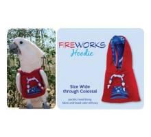 Papegaaien Hoodie Wide Red Fireworks
