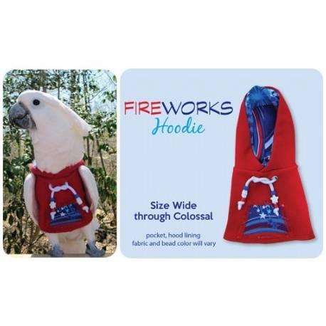 Papegaaien Hoodie X-Wide Red Fireworks