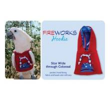 Papegaaien Hoodie Colossal Red Fireworks