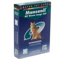 Mansonil All Worm Large Cat 2 tab