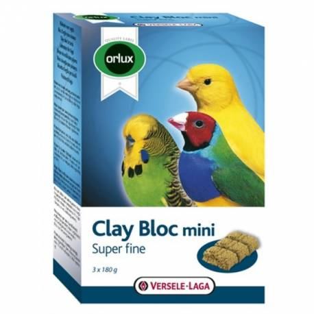 Orlux Clay Bloc Mini - Kanarie-Parkiet-Tropische Vogels 540 gram vogelvoer