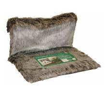 Hangmat de luxe, langharig zilver-bruin