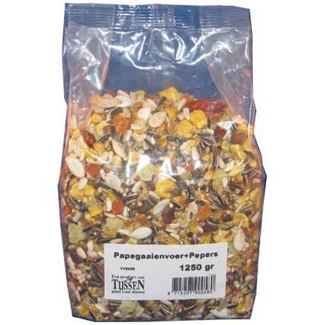Tijssen Papegaaienvoer+pepers 1250 gram