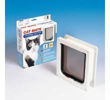 Cat Mate Kattenluik 234 wit met tweewegsluiting
