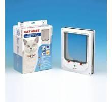 Cat Mate Elektromagnetische Kattenluik groot met vierwegsluiting. 256 Wit.