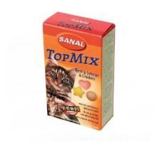 Sanal Topmix 85 tabletten - kattensnoepjes