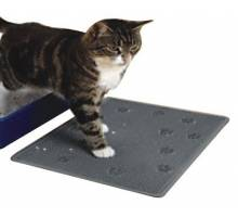 CAT LITTER MAT Rubber/33x43cm/grey kat product