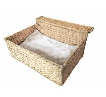 RADIATOR BED CLOUD NINE ca.47x40x20cm water-hyacinth, incl. cushion
