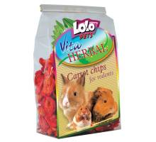Lolo Pets HERBAL Carrot chips for rodents and parrots 100g