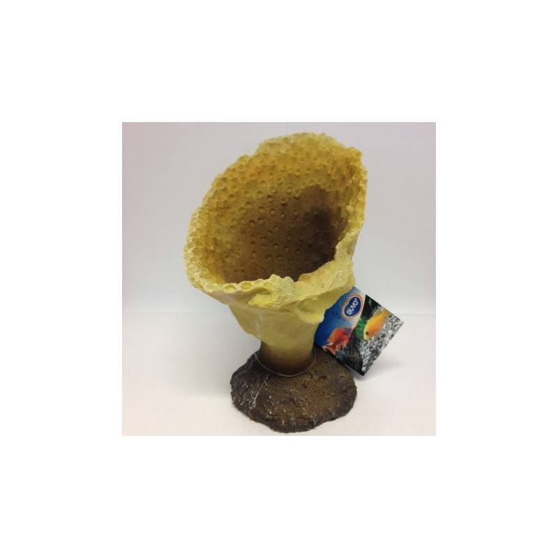 Aquarium decoratie Coral XL  Yellow   AvonturiaShop