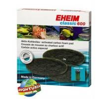 EHEIM classic 600 koolstof vlies patroon