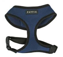 Puppia soft harness S royal blue hondenharnas
