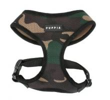 Puppia soft harness S camouflage hondenharnas