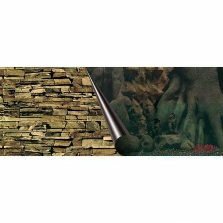 Foto-achterwand - 60 cm-coupe Tree en Rock - 30 cm