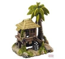 Decor TROPICAL-ISLAND m. huis 195 x 150 x 227mm