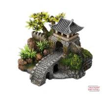 Decor Gate Bridge 15,7x13,5x11,5cm/with plants