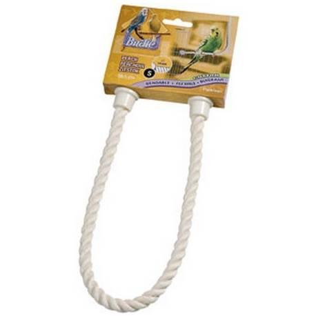 Vogel Zitstokken - Buigzame touw-zitstok naturel Small